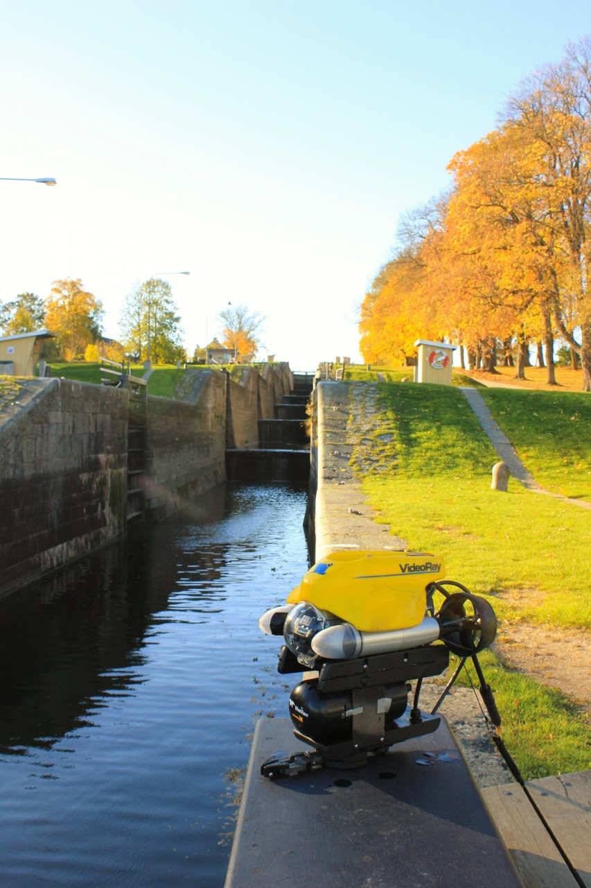 NOVEMBER 11, 2015 - VideoRay Pro 4 Remotely Operated Vehicle Inspects Göta Kanal Infrastructure
